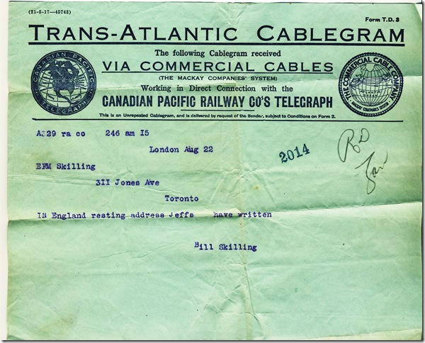 22 Aug 1917 Cable