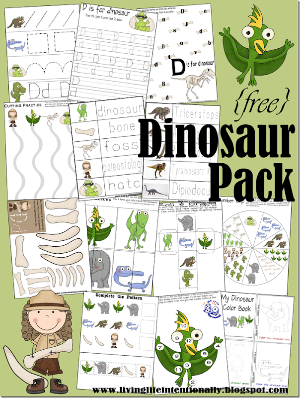 Preschool Worksheets - Dinosaur Theme #preschool #kindergarten #worksheets