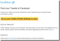 collegare twitter facebook