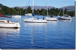 boats lake windermere sailboats by ferry telephoto