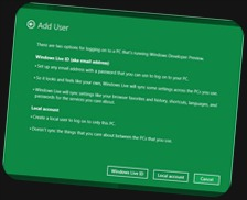 Windows 8 - Add User