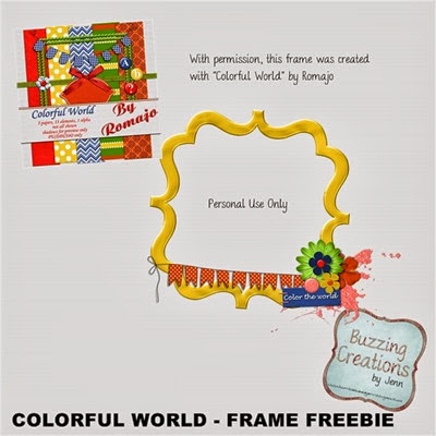Romajo - Colorful World - Frame Freebie Preview