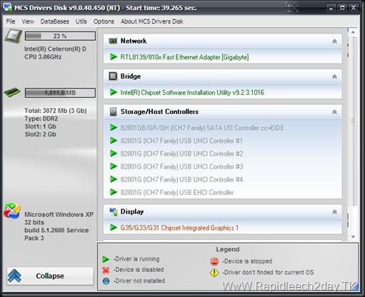 mcs Drivers Disk v9.0.40.450 Full ENG-FR 2012