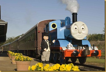 Sir Topham Hatt with Thomas at DOWT