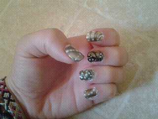 nail water marble marbling