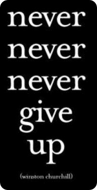 never give up wiston churchill
