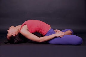Matseyasana: Fish Pose. Heart is floating with the breath like a fish floating in water