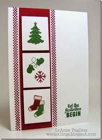 LeAnne Pugliese WeeInklings Christmas Notecard Project Life