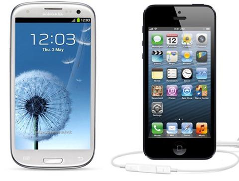 iPhone 5 vs Galaxy S III