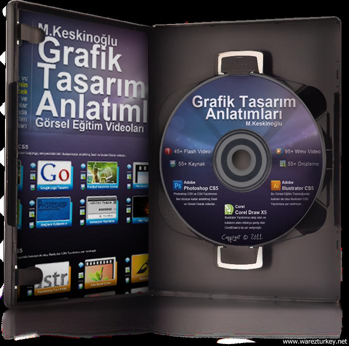 Grafik Tasarım Görsel Eğitim Seti DVD Tek Link indir