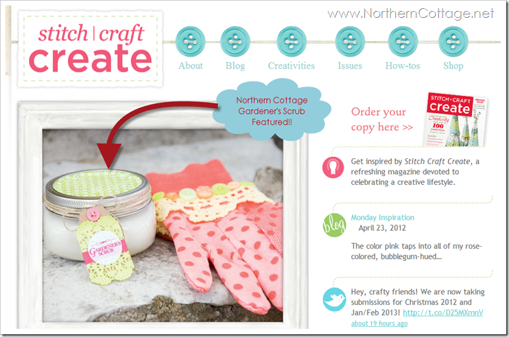 northern cottage featured in stich craft create