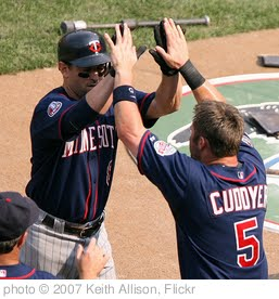 'Nick Punto and Michael Cuddyer' photo (c) 2007, Keith Allison - license: http://creativecommons.org/licenses/by-sa/2.0/