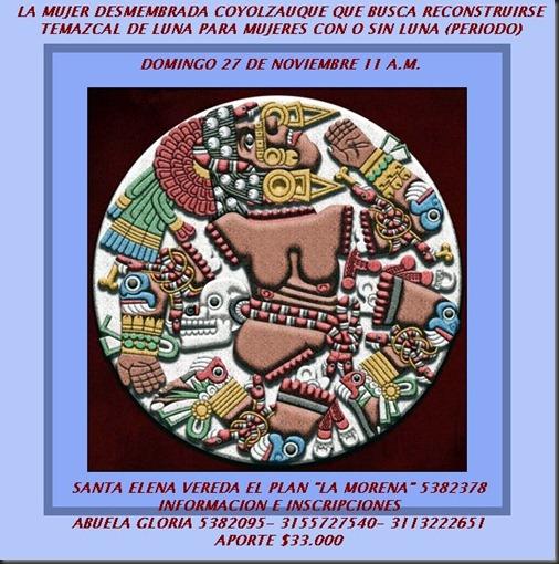 INVITACION TEMAZCAL DE LUNA NOV