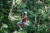 Kristy on the canopy swing