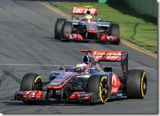 Button precede Hamilton nel gran premio d'Australia 2012
