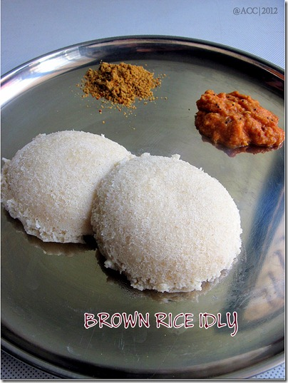 BROWN RICE IDLY