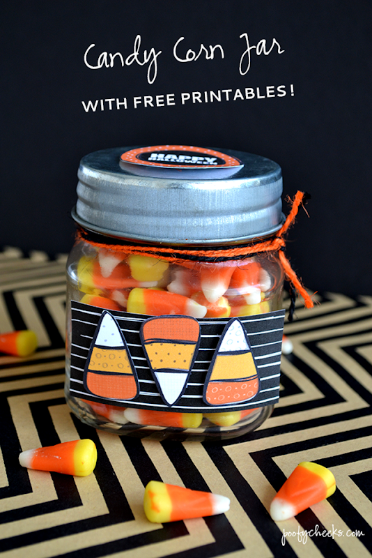 Candy Corn Jar with FREE Printables