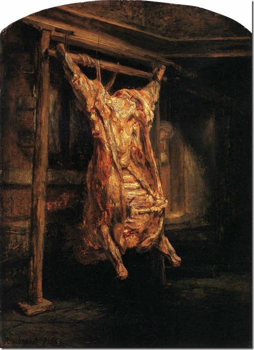 rembrandt - rozpłatany wół