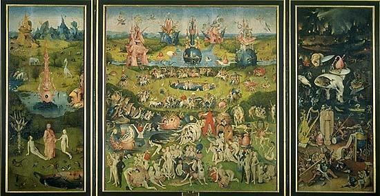 Arte gotico pintura for El jardin de las delicias significado