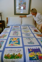 Nickie and Jimmie ran lots of races and this quilt proves it