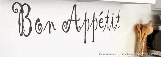 Icon Wall Sticker Bon Appetit via homework   carolynshomework.com
