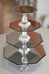 cake stand mirrored diy