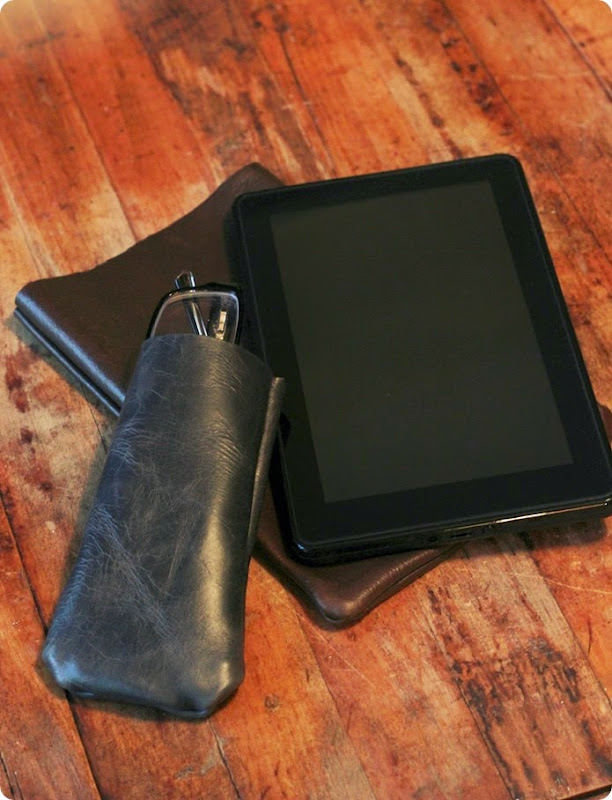 diy leather sleeve for kindle