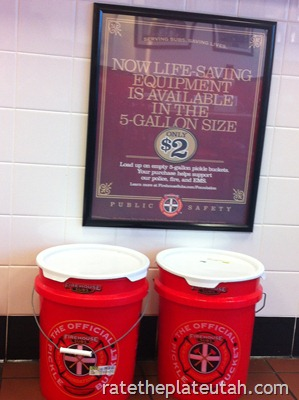Firehouse Subs Bucket