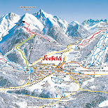 map of seefeld's slopes in Seefeld, Tirol, Austria