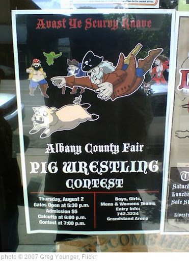 'Pirate-themed Pig Wrestling in a Cowboy Town - Laramie, Wyoming' photo (c) 2007, Greg Younger - license: http://creativecommons.org/licenses/by-sa/2.0/
