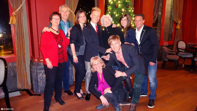 celebrating Christmas with the family in Haarlem in Haarlem, Noord Holland, Netherlands