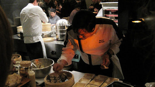 Host Chef Ming Tsai served his signature foie gras shui mai.
