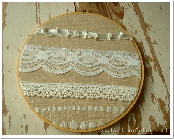 shabby chic hoop art@NorthernCottage.net