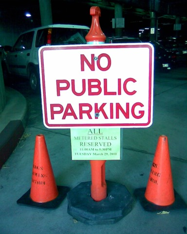 No Public parking at public event[4]