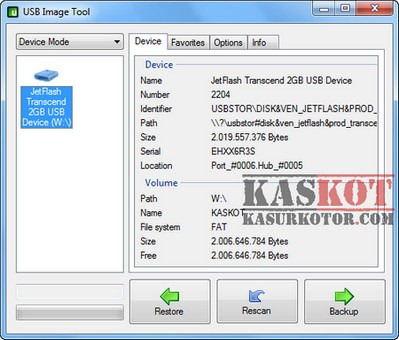 Backup dan Restore isi USB Flash Disk
