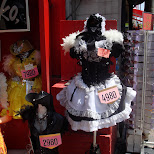 Gothic Lolita dress for sale 4980 YEN which is about 60 dollars CAD on Takeshita dori in Harajuku in Harajuku, Tokyo, Japan