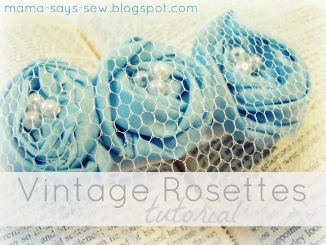 vintage rosettes tutorial