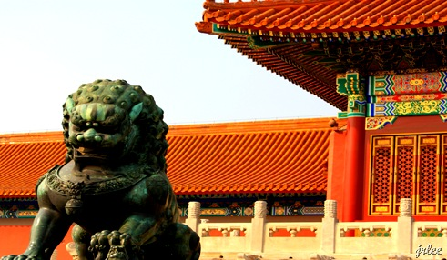 one of the halls @forbidden city