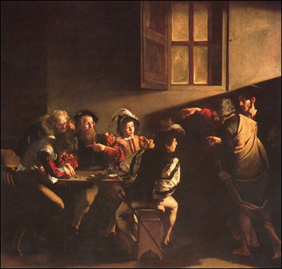 Caravage, La vocation de St Matthieu