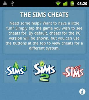 Aplicativo com Cheats para The Sims 1, 2 e 3 no seu Android via Market