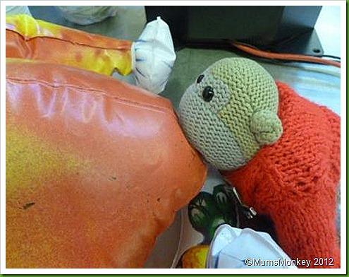 Inflatable Christmas Turkey.