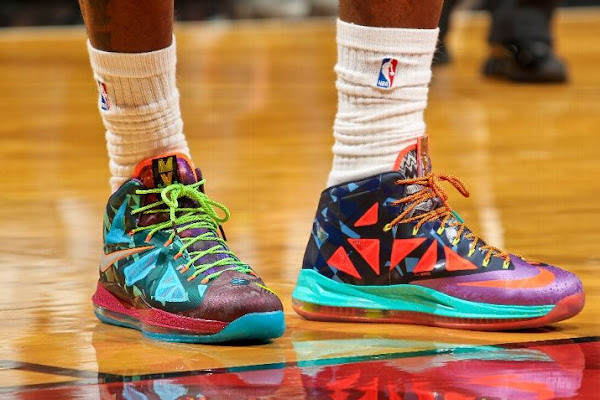 King James Switches out of the Nike LeBron X 8220What the MVP8221