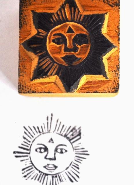 Wooden Block Sun Stamp