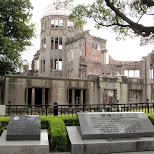 atomic bomb dome in hiroshima in Hiroshima, Hirosima (Hiroshima), Japan
