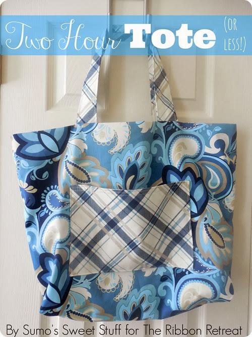 Two Hour Tote (or less!) by SumosSweetStuff.com #sewing