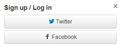 twitter facebook buttons