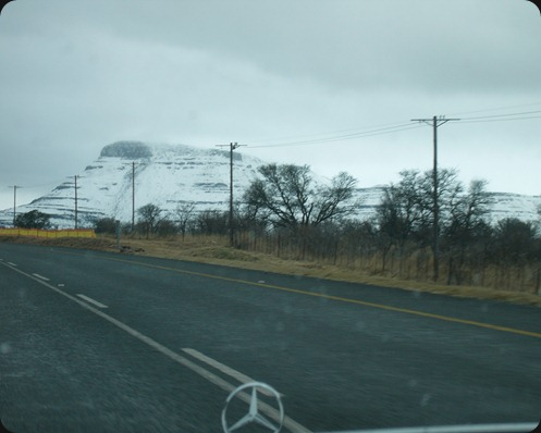 Eastern Cape Snow 2012, Road from Queenstown to Sterkstroom 1