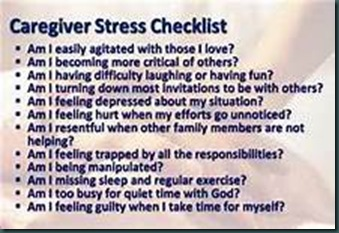 Caregiver Stress Checklist