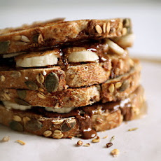 Grilled Banana and Nut Butter Birthday Sandwiches