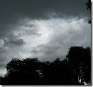About 3:30 the sky darkened and the rain began